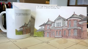 Cridge Centre Note Card (From Urban Sketch to Note Cards & Mugs)