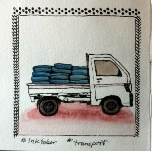 Inktober transport (Inktober part 2)