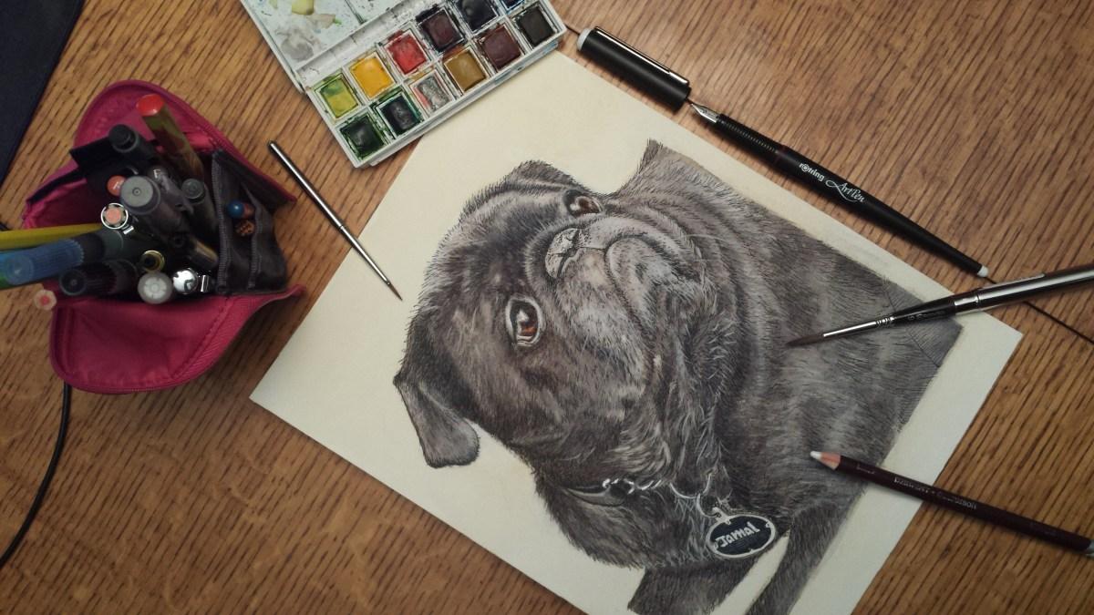 Jamal, the pug dog is finished!