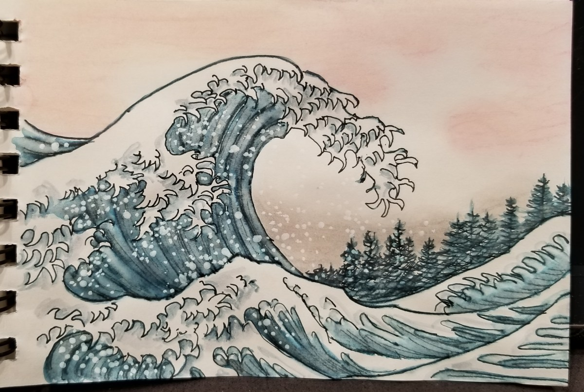 Inktober Great Wave