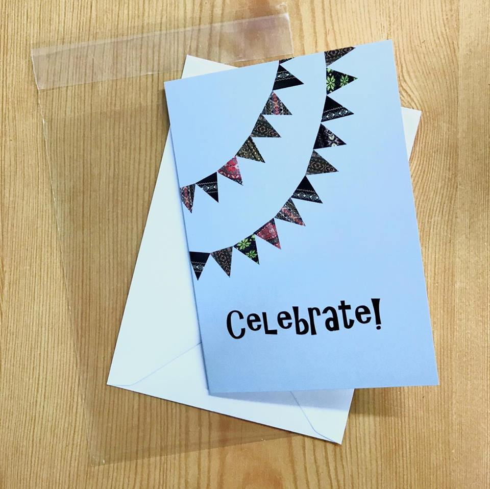 bunting with envelope