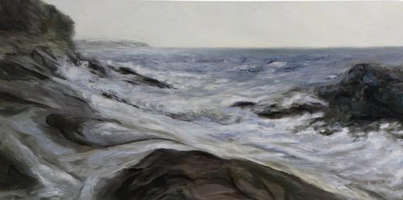 Rhythm of the Sea Edith Point 20 x 40 inch oil on canvas by Terrill Welch 2013_04_03 079