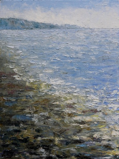 Saturna Island Sea and Shore 16 x 12 inch oil on canvas by Terrill Welch 2012_10_25 004