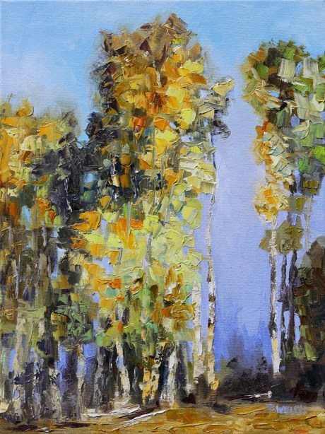 A Tall Tale of Autumn Stuart River 16 x 12 inch oil on canvas by Terrill Welch 2013_12_24 003