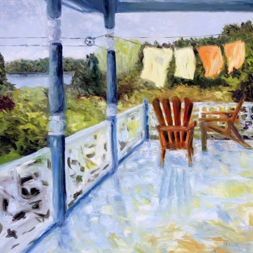 Breezy Bay Morning 36 x 36 inch oil on canvas by Terrill Welch 2014_09_15 038