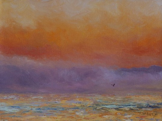 flight at dawn 9 x 12 inch oil on canvas by Terrill Welch IMG_0812
