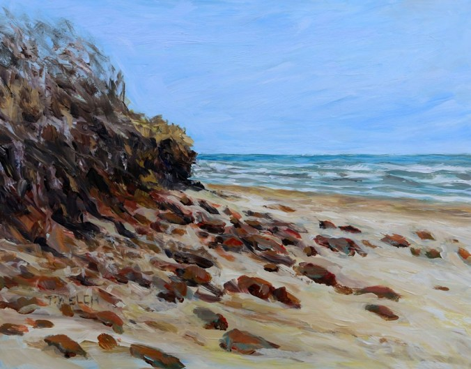 Savage Harbour Beach PEI 11 x 14 inch acrylic study on gessobord by Terrill Welch IMG_3898