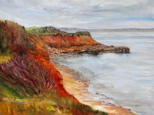 Wind Swept Murray Head PEI 30 x 40 inch oil on canvas by Terrill Welch IMG_6547