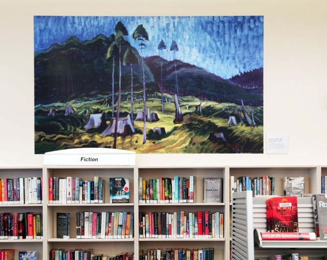 large print of Emily Carr painting at the Emily Carr Branch of Greater Victoria Library by Terrill Welch IMG_9523
