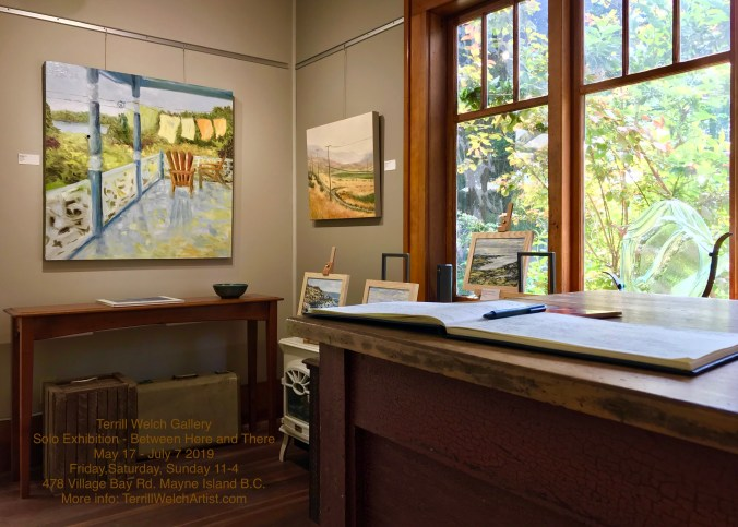 Guest book in small art gallery on Mayne Island in the Southern Gulf Islands.