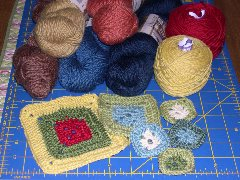 squares & yarn for Babette