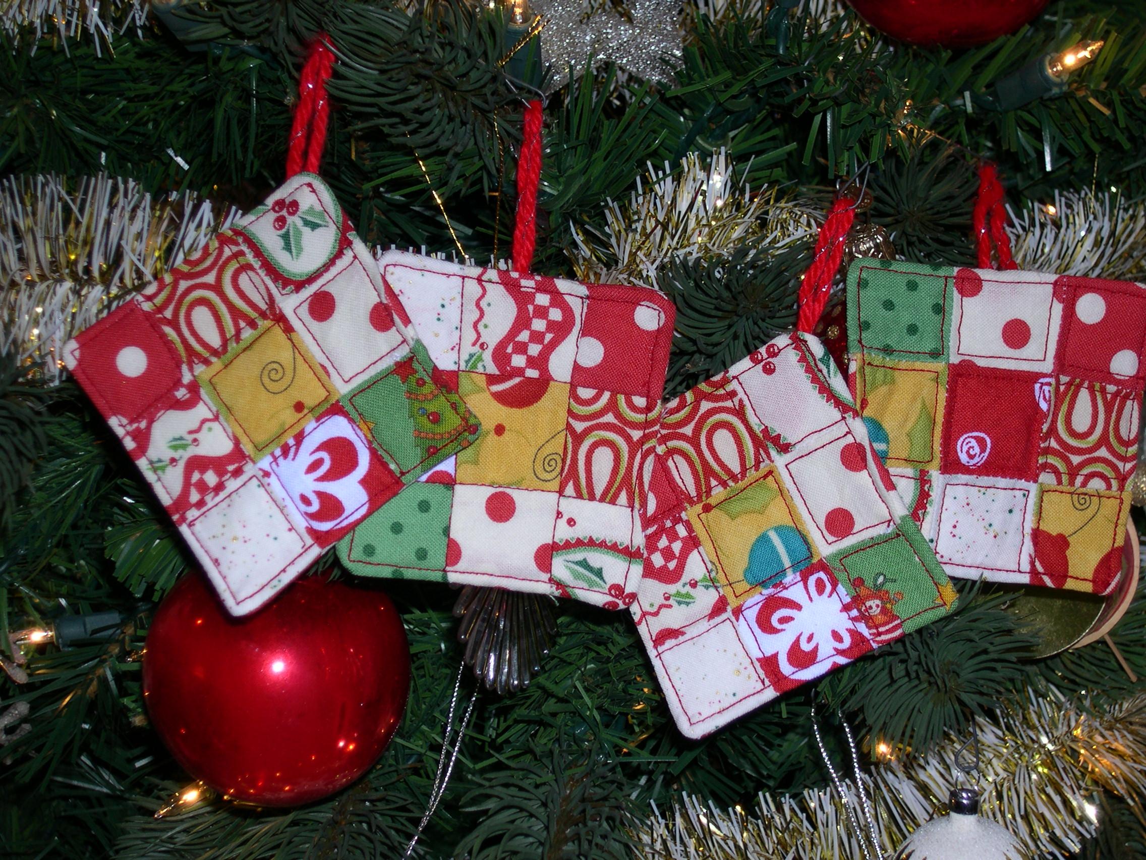 Miniature 9-patch ornaments