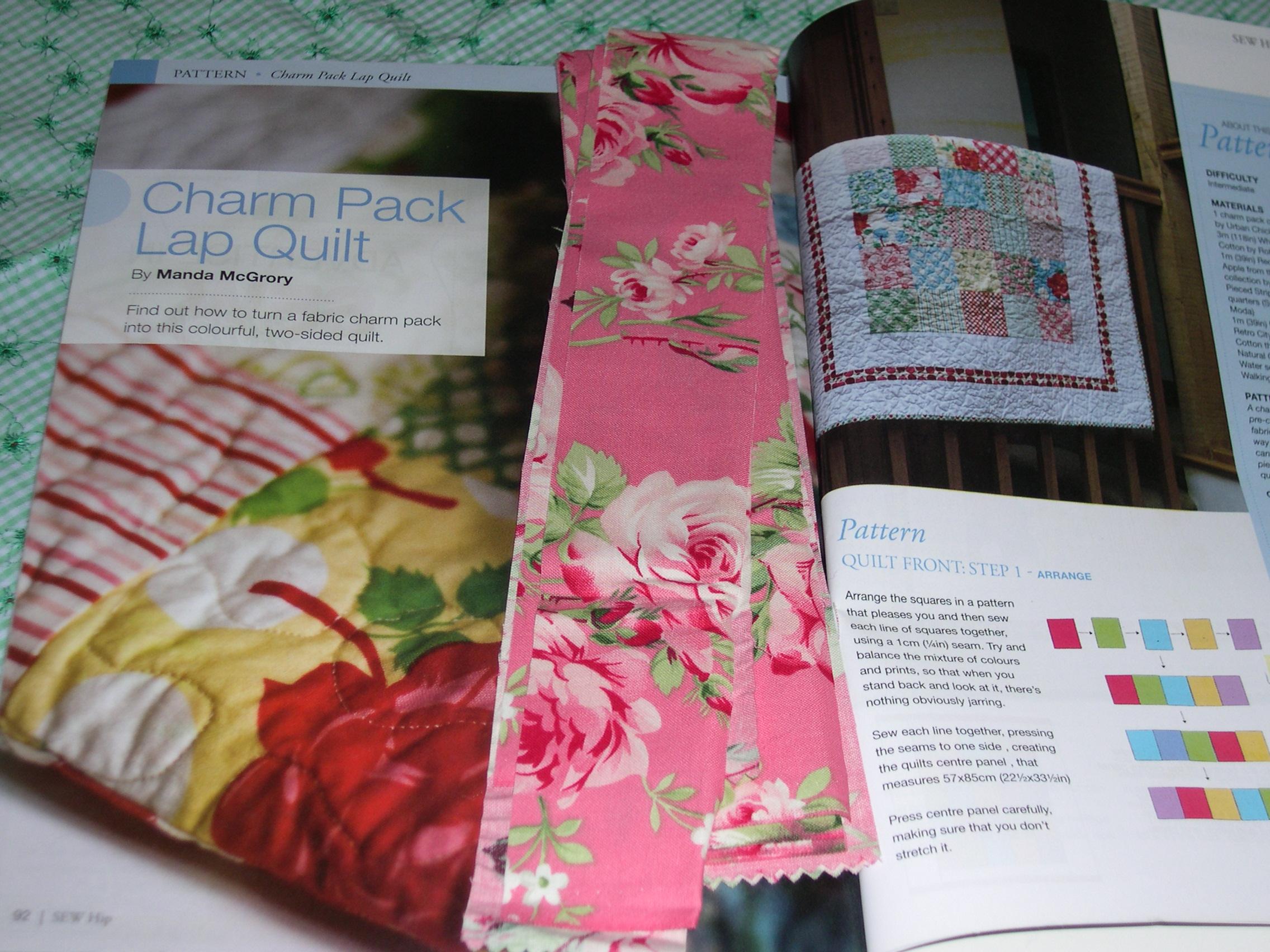 Sew Hip-Dec08-Charm Quilt pattern