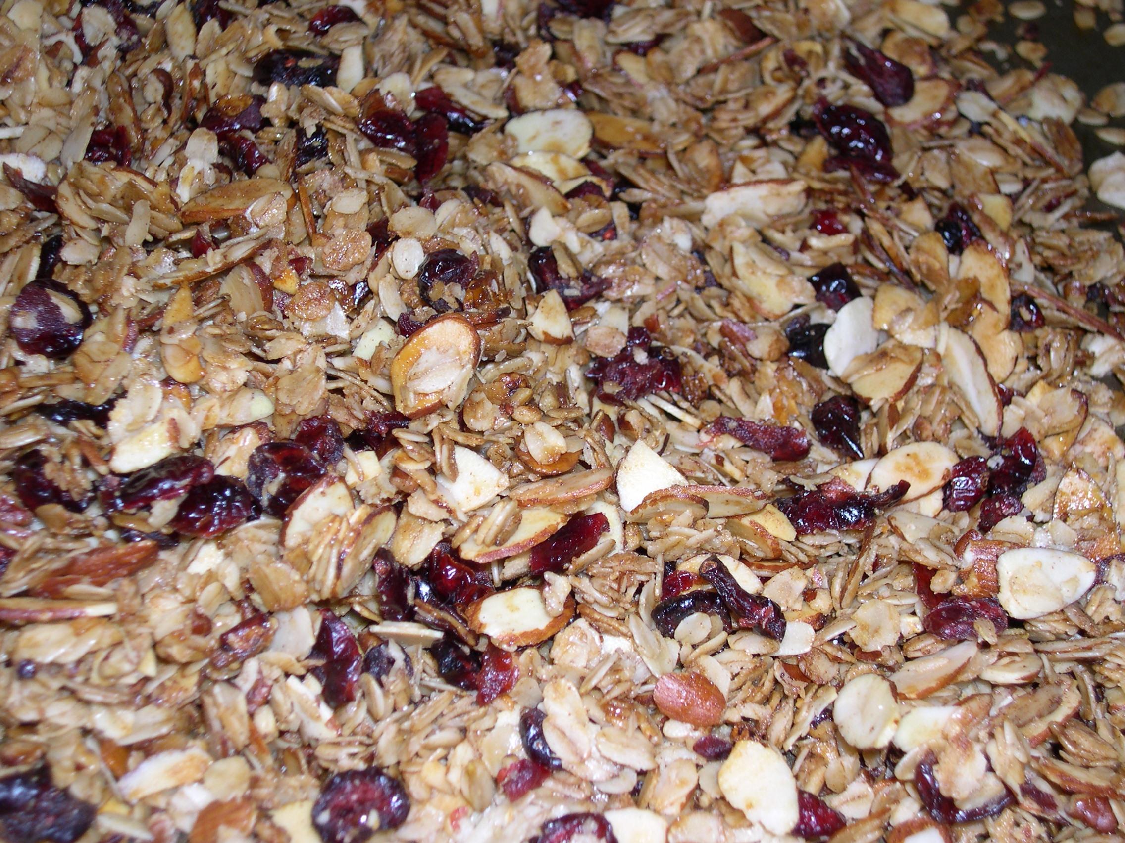 pan of granola