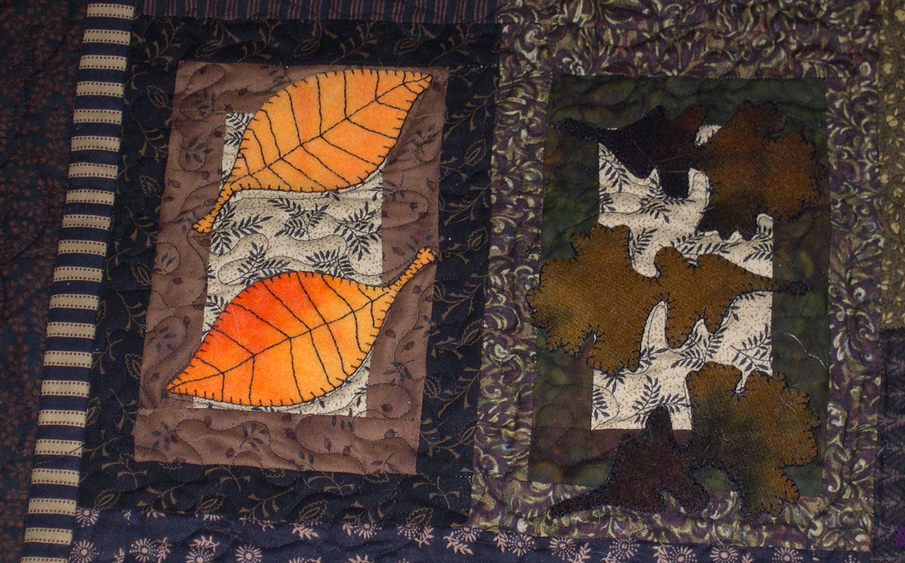 Birch and Oak Leaves Block