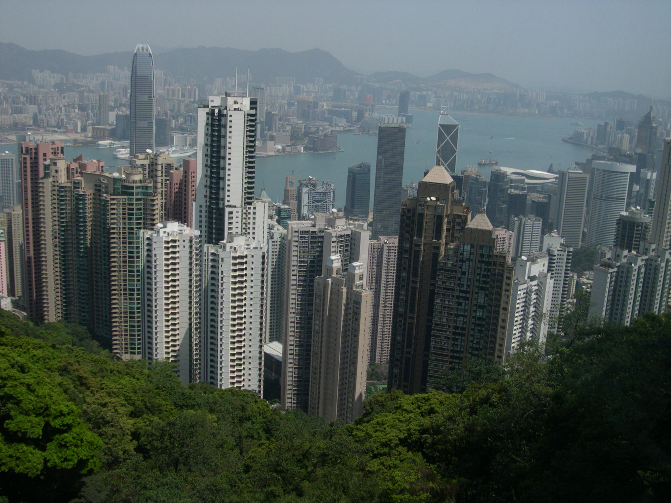 Views of Hong Kong from The Peak