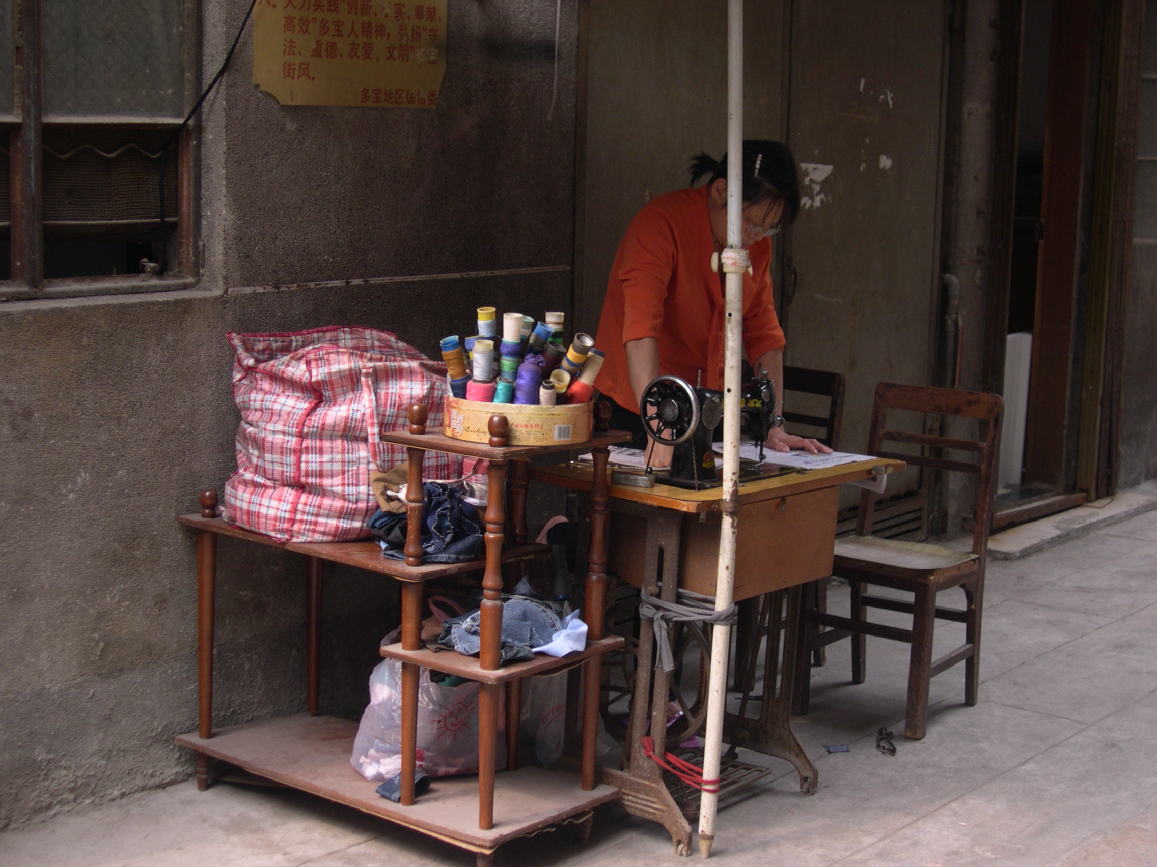 sewing business on the streets