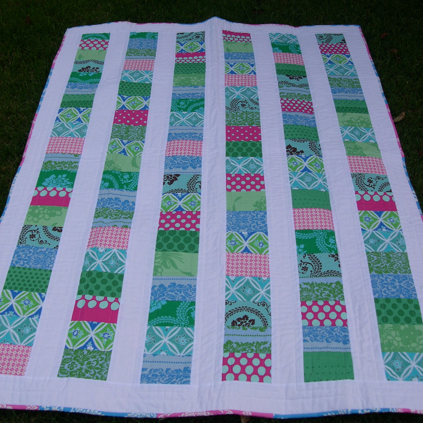 front side of coin quilt