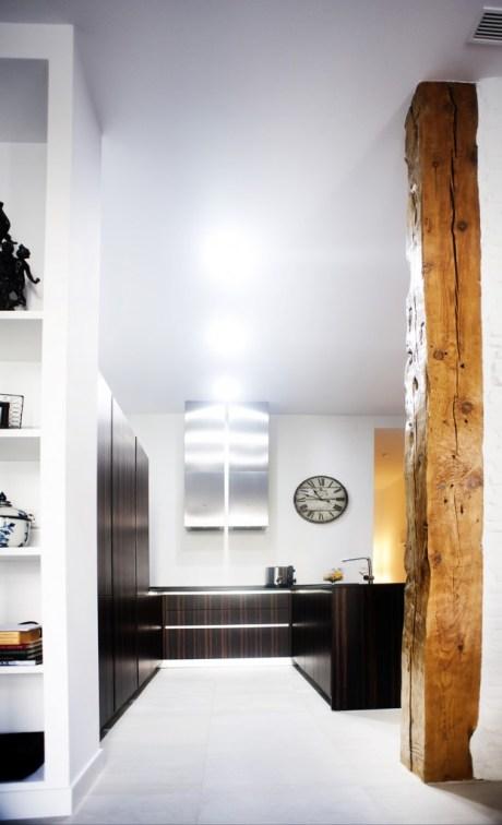 decoración de cocinas pequeñas con forma cuadrada