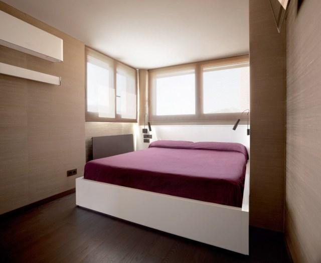 ático en barcelona. dormitorio