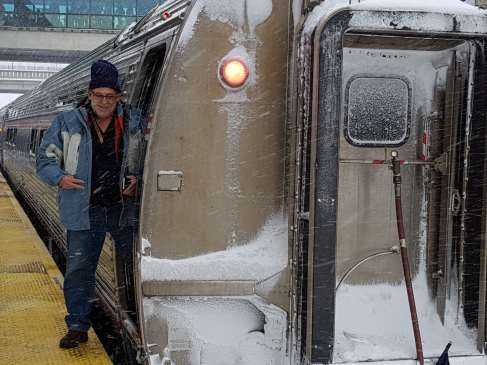 icy train ride