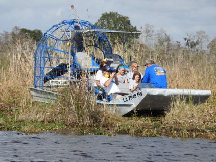 Airboat on the swamp