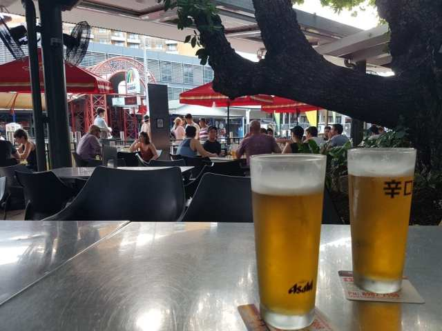 A beer in Mitchell Street
