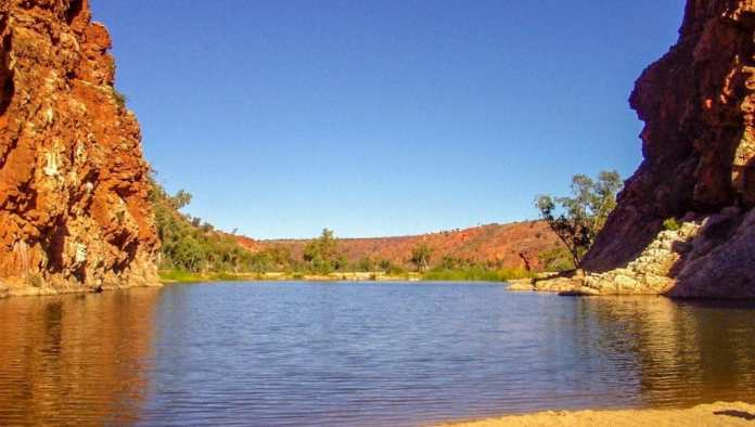 Finke River at Glen Helen