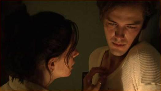 "Jacob (Zak Kilberg) and Mary (Maya Parish) in ""Midnight Son""."