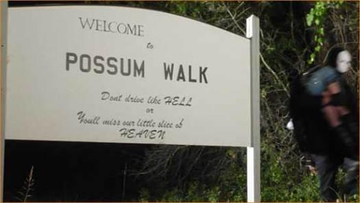 """Death wears a non-descript white mask in """"Possum Walk""""."""