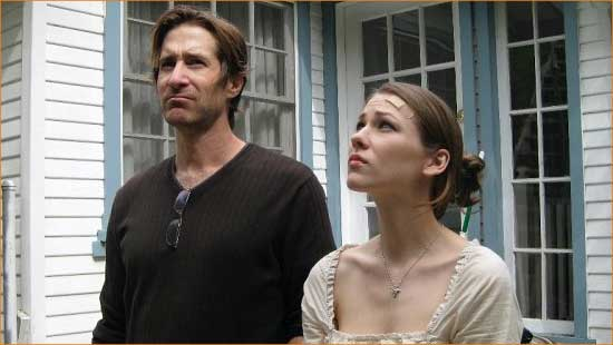 "Howard (Richard Gunn) and Charlotte (Abigail Mittel) move into a mystery in ""Fugue""."