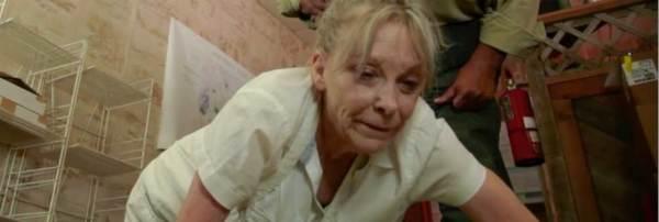 Marilyn Burns prepares some sinners for dinner in 'Sacrament'.
