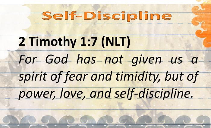 BVD- Self-Discipline
