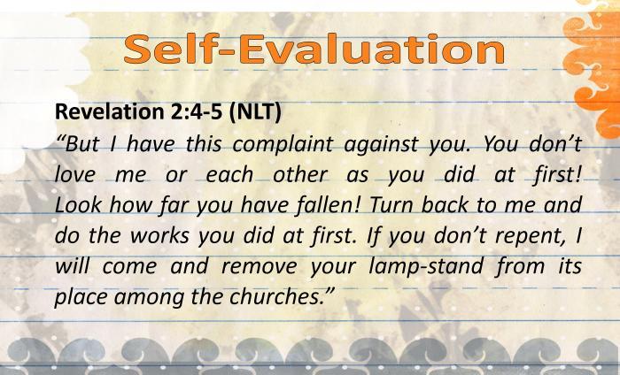 DBV - Self-Evaluation