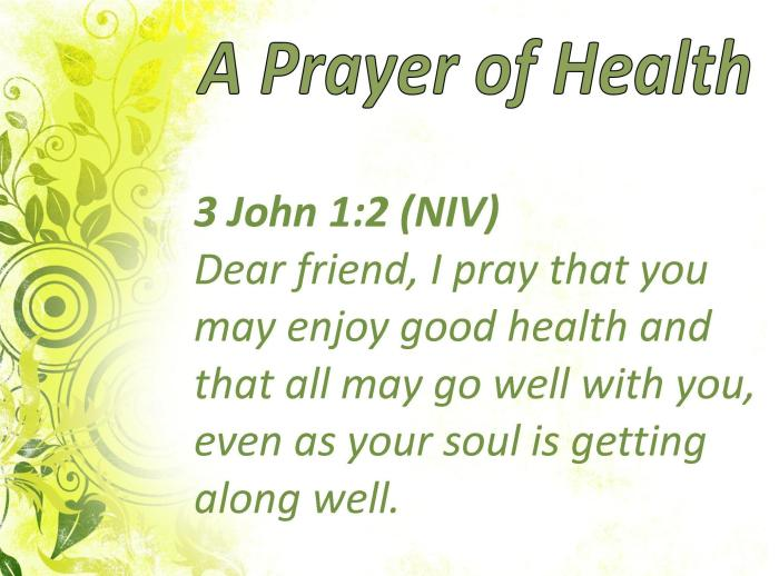 Health Prayer