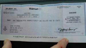 Walmart check scam