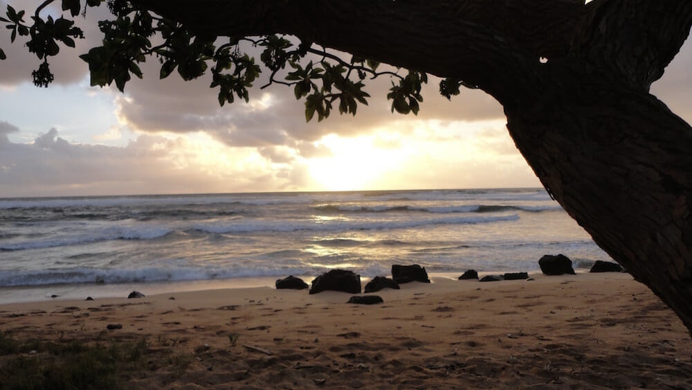 Kauai Sunrise - Nukolii Beach