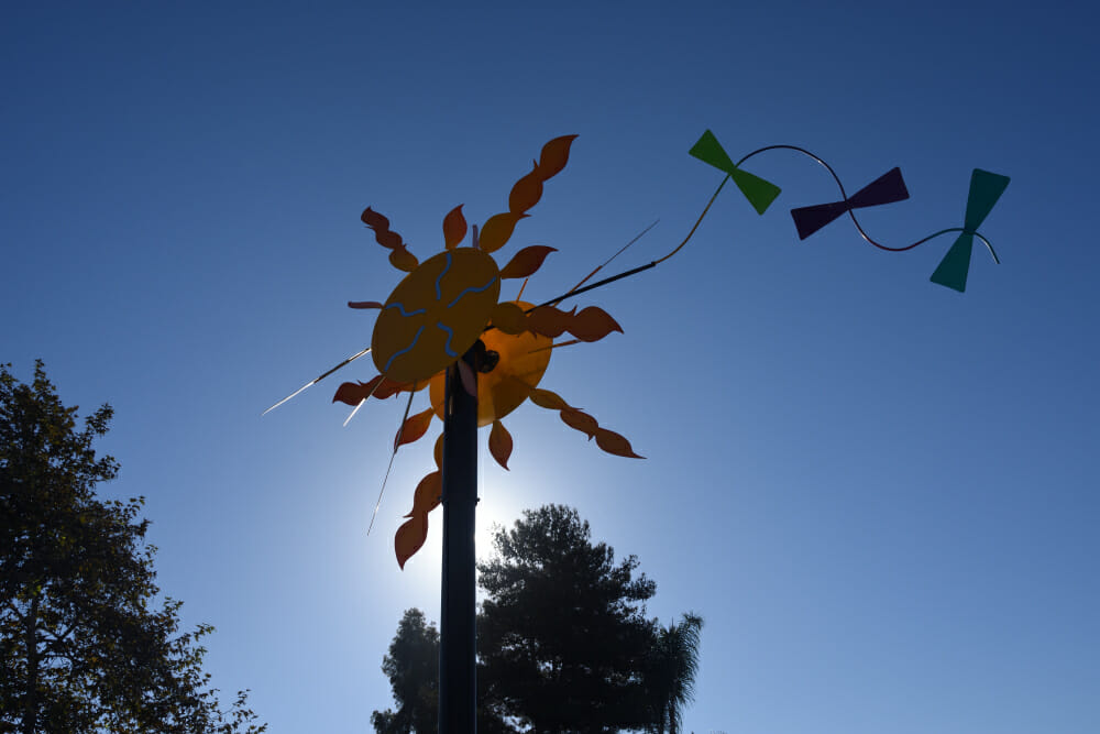 This is one of the sculptures the City of Vista has put up in local parks. Such a cool idea!