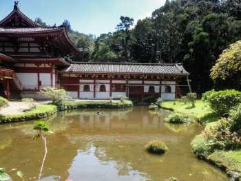 Byodo-In Temple lagoon