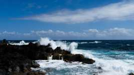 Crashing waves at Laupahoehoe on the Big Island