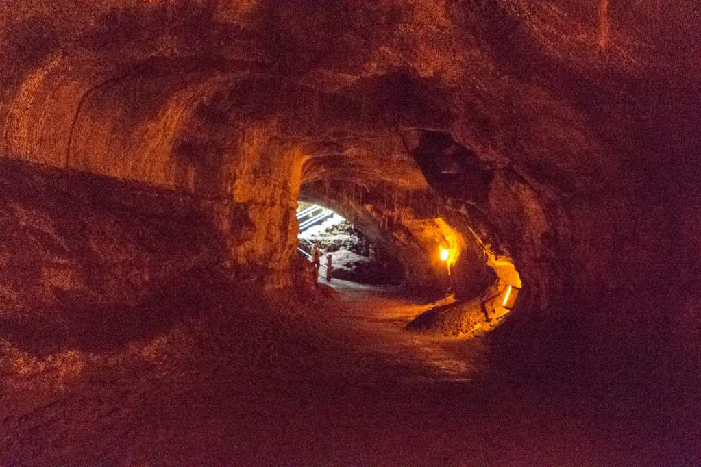 Thurston Lava Tube - the exit in sight