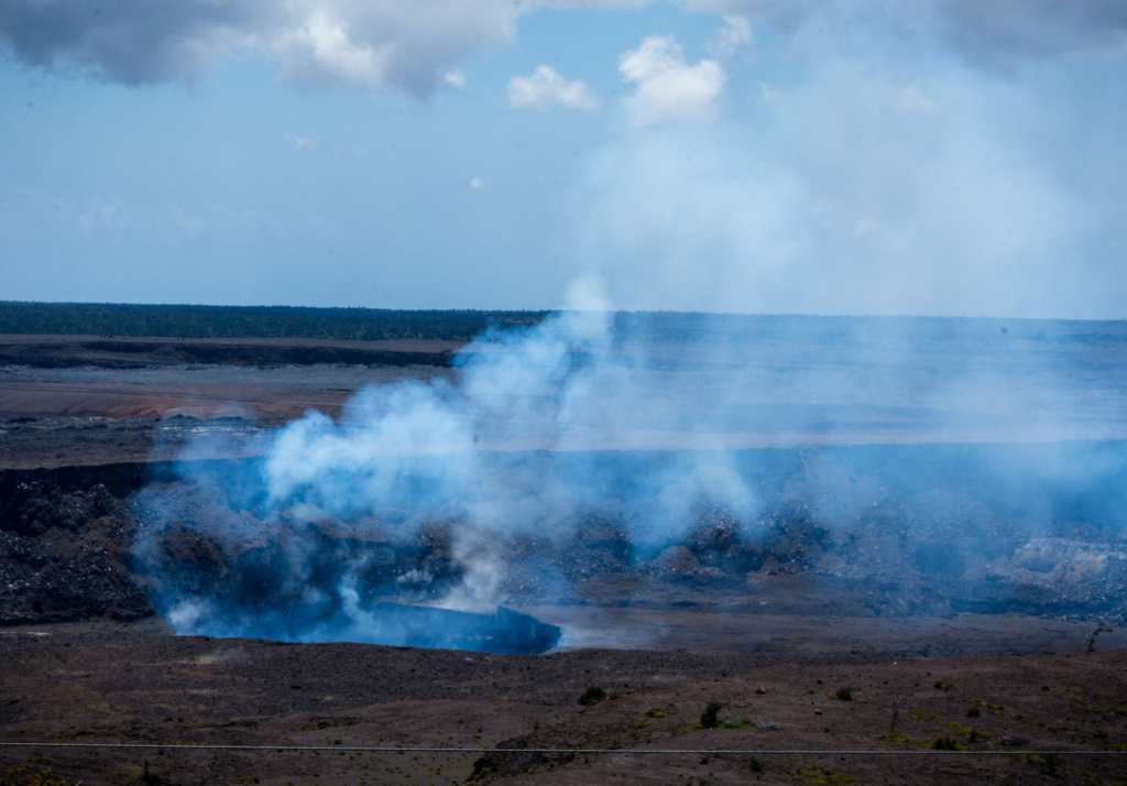 Smoke from Kilauea lava flow