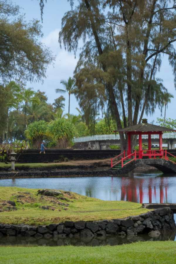 Friday Fotos – red gazebo at Liluokalani Gardens
