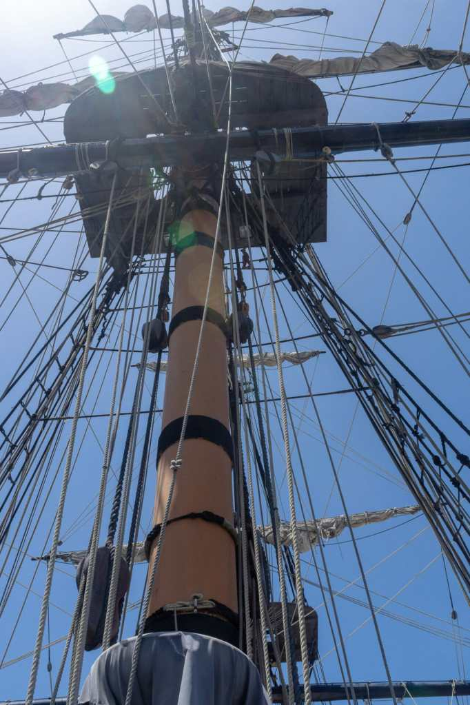 The main mast goes up a long ways!