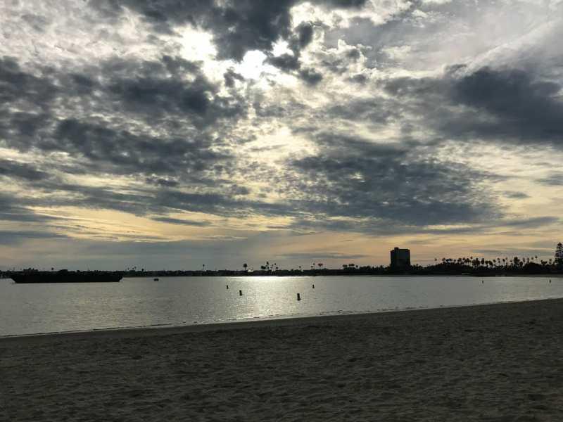 Sail Bay nearing sunset