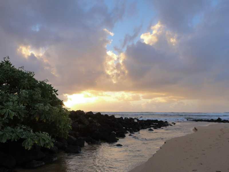 July 2011 sunrise on Kauai