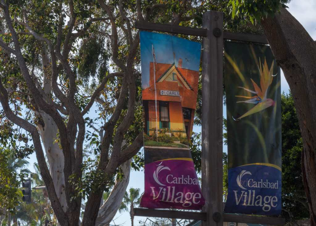 Colorful banners line the streets