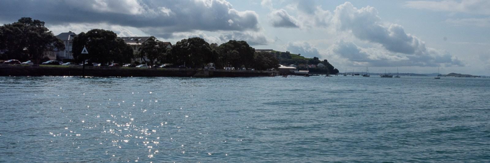 Devonport in New Zealand along the shore