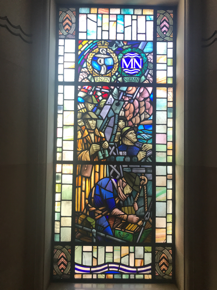 Stained glass window commemorates the war