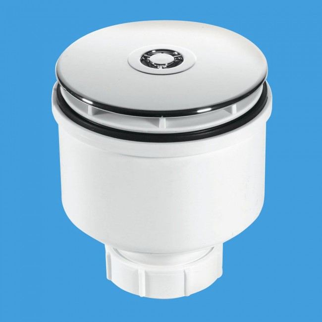 McAlpine ST90CP10V 90mm Shower Trap with 50mm Water Seal